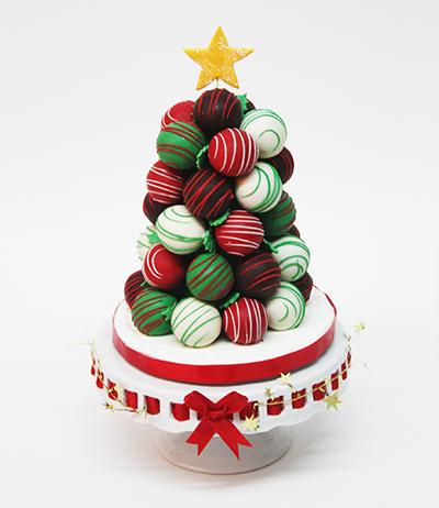 Christmas Cake Balls Tree Edda S Cake Designs