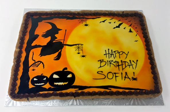 Halloween Theme Cookie Cake