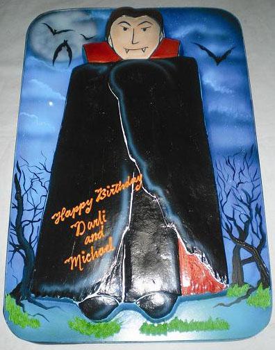 Incredible Vampire Eddas Cake Designseddas Cake Designs Funny Birthday Cards Online Overcheapnameinfo