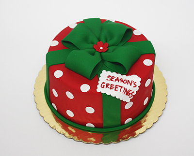 Christmas Wishes Cake Images : Fondant ?Season?s Greetings? Cake - Edda s Cake ...